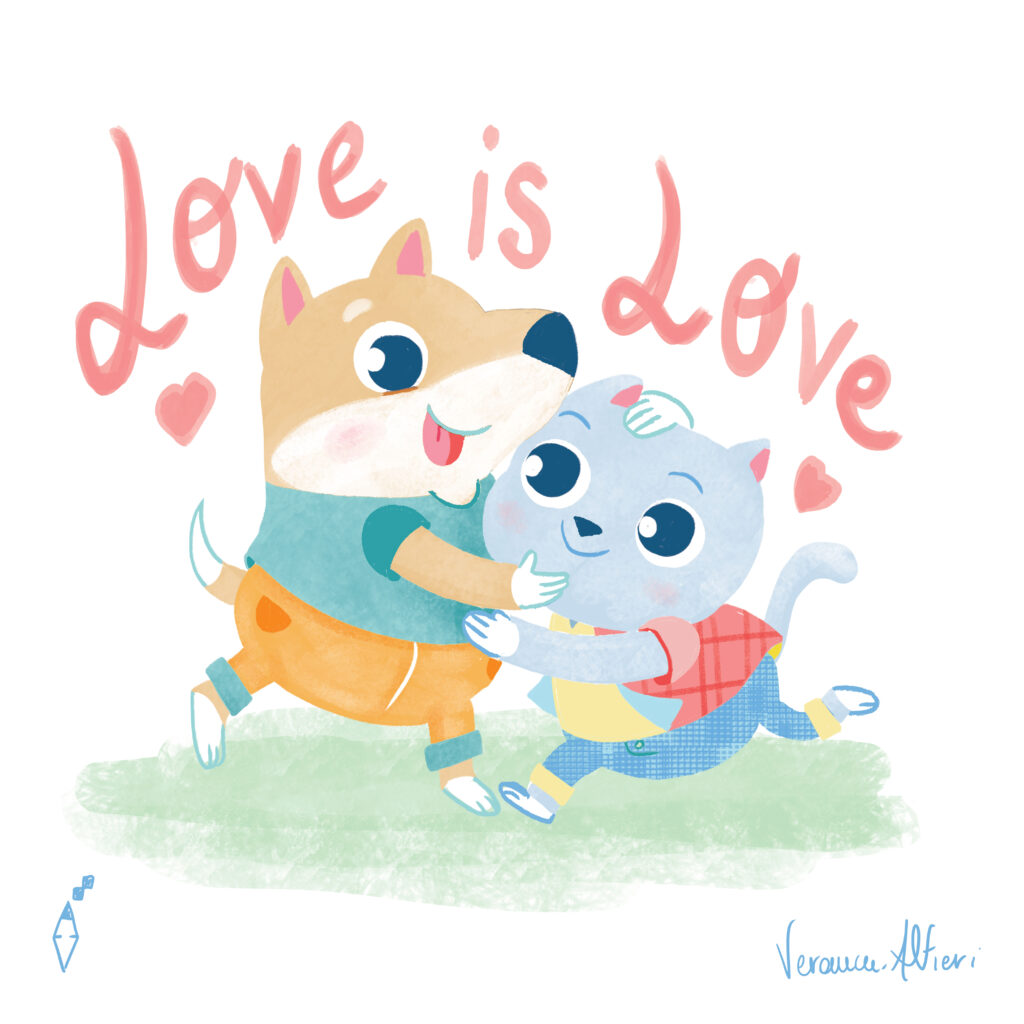 dog cat love is love