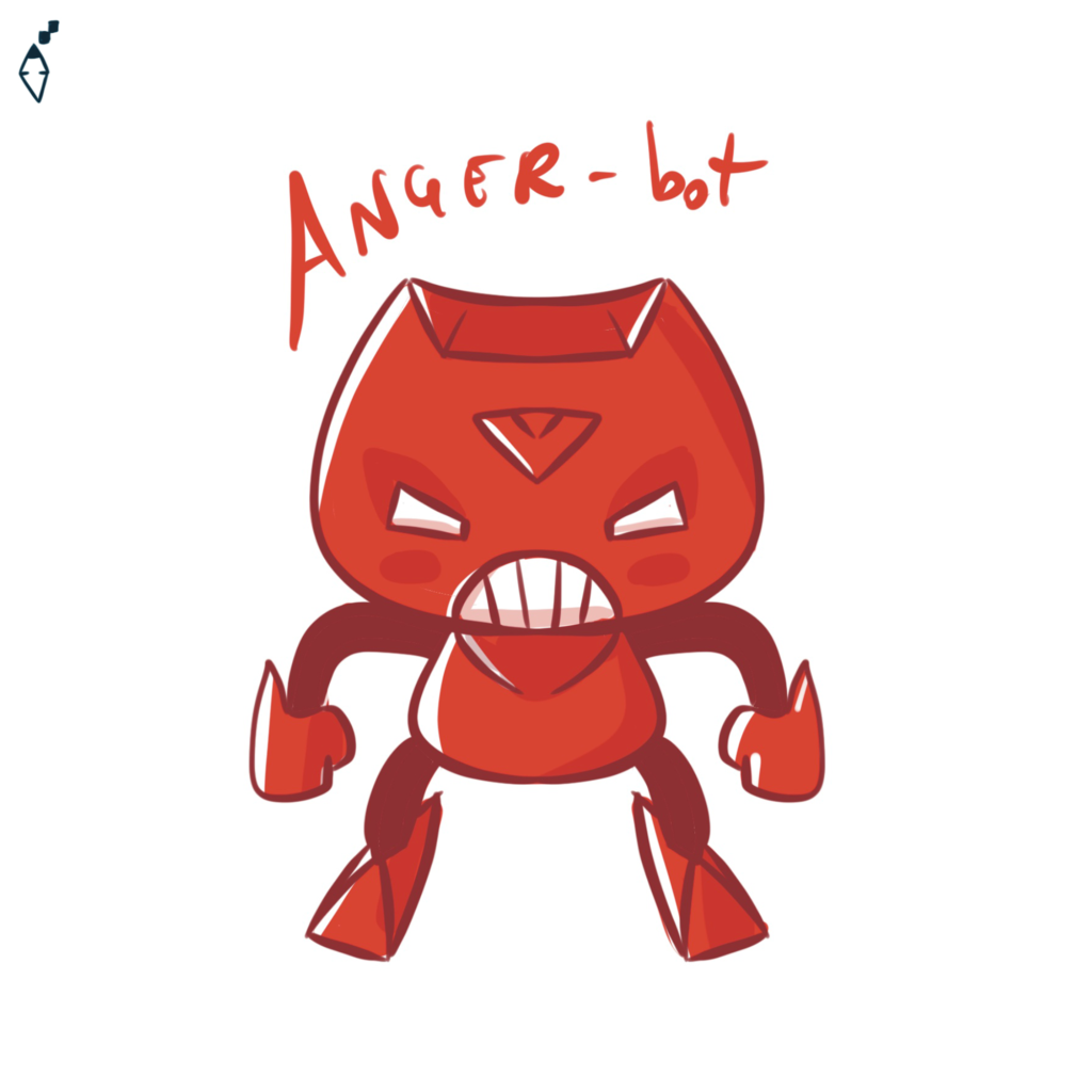 Anger-bot. Also the robot can feel the feelings