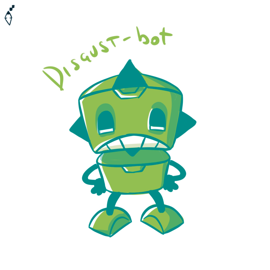 Disgust-bot. Also the robot can feel the feelings
