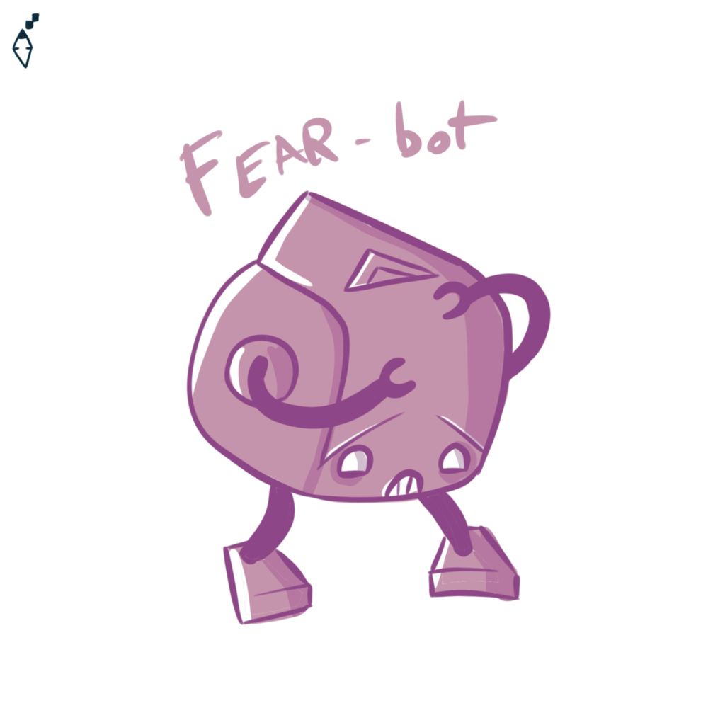 fear-bot. Also the robot can feel the feelings