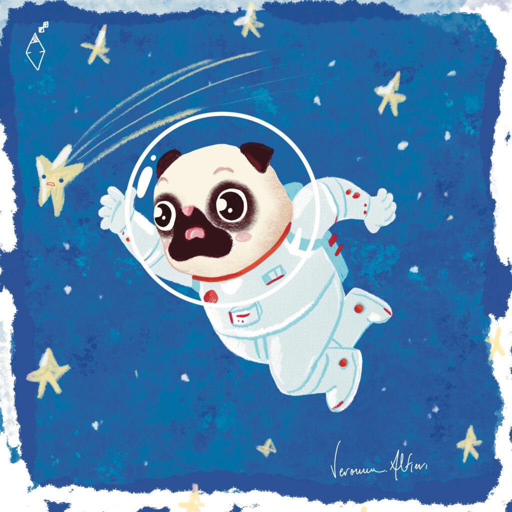 Alfieri Veronica Illustrator portfolio children's illustrator illustratrice Veronica Alfieri pug dog