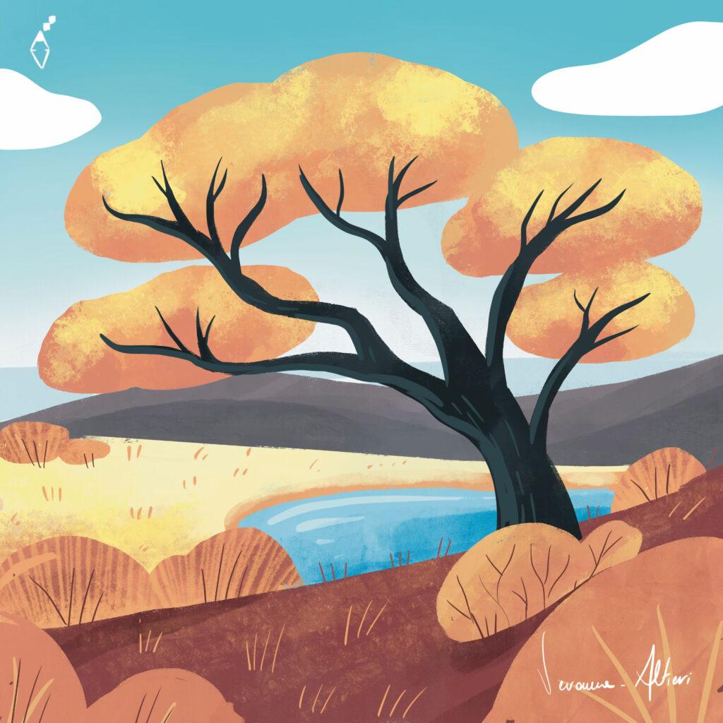 savana illustration