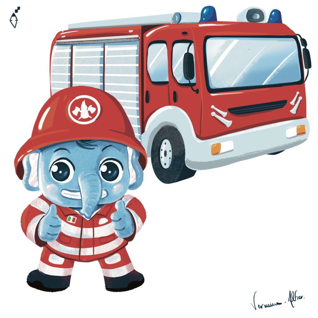 firefighter elephant
