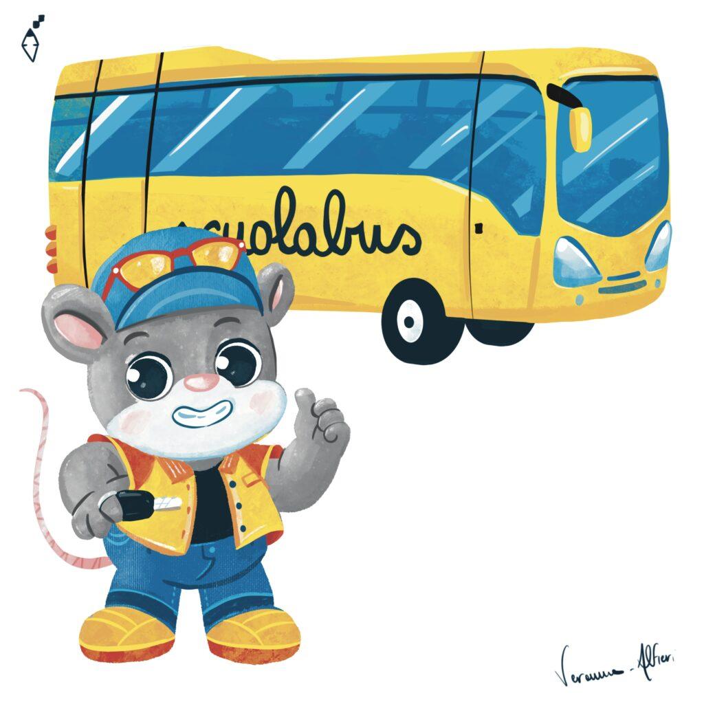 mouse schoolbus scuola bus