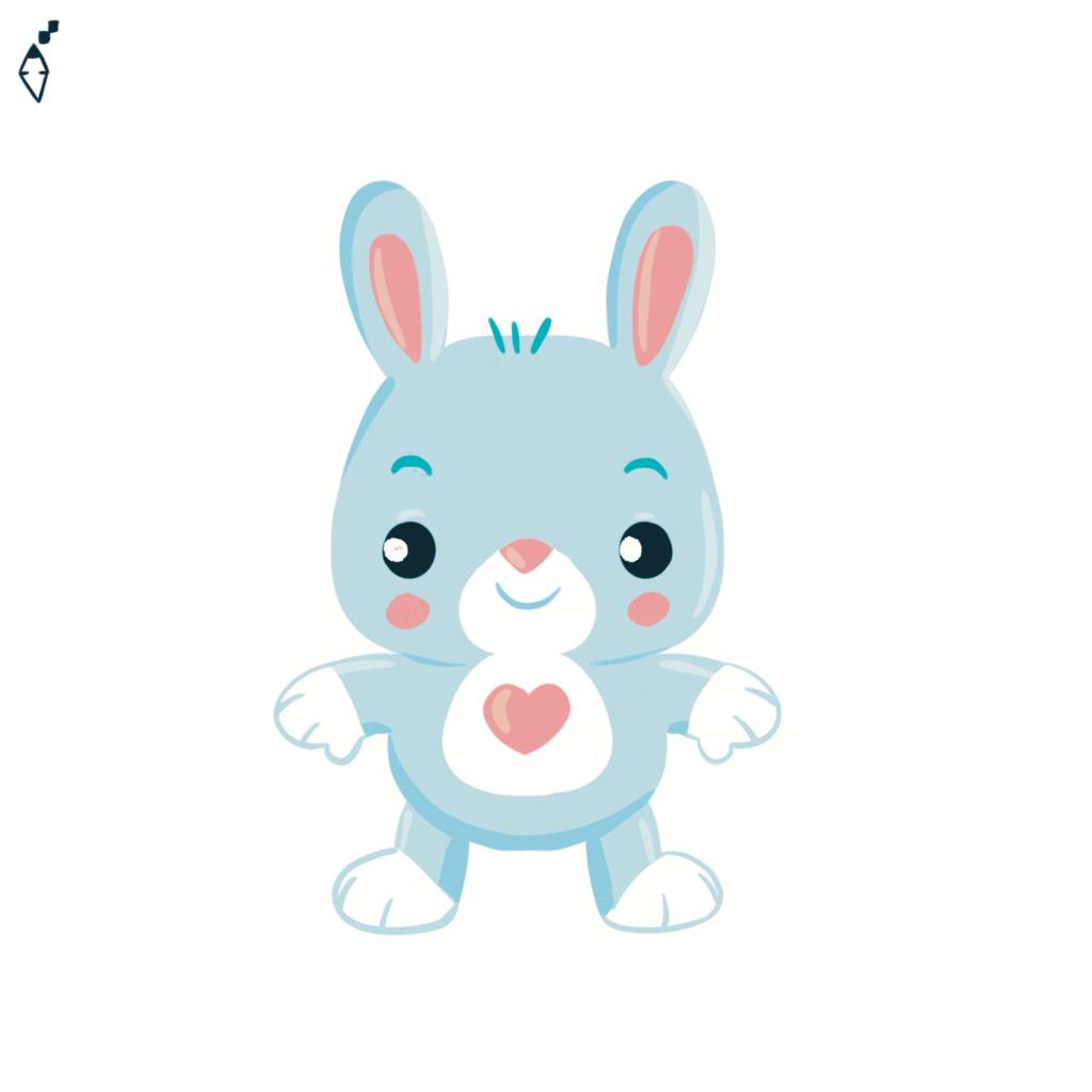 Rabbit sweet heart
