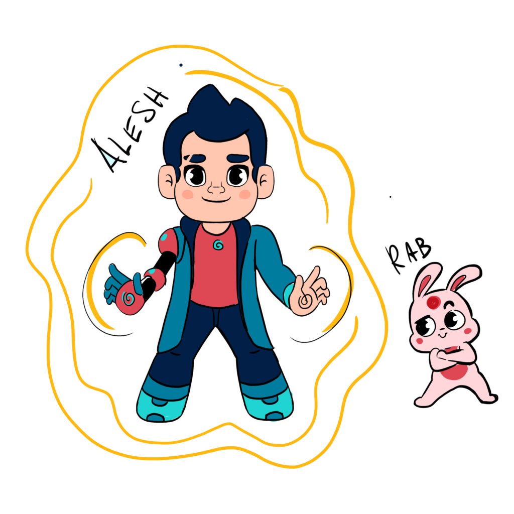 Alesh and his little friends