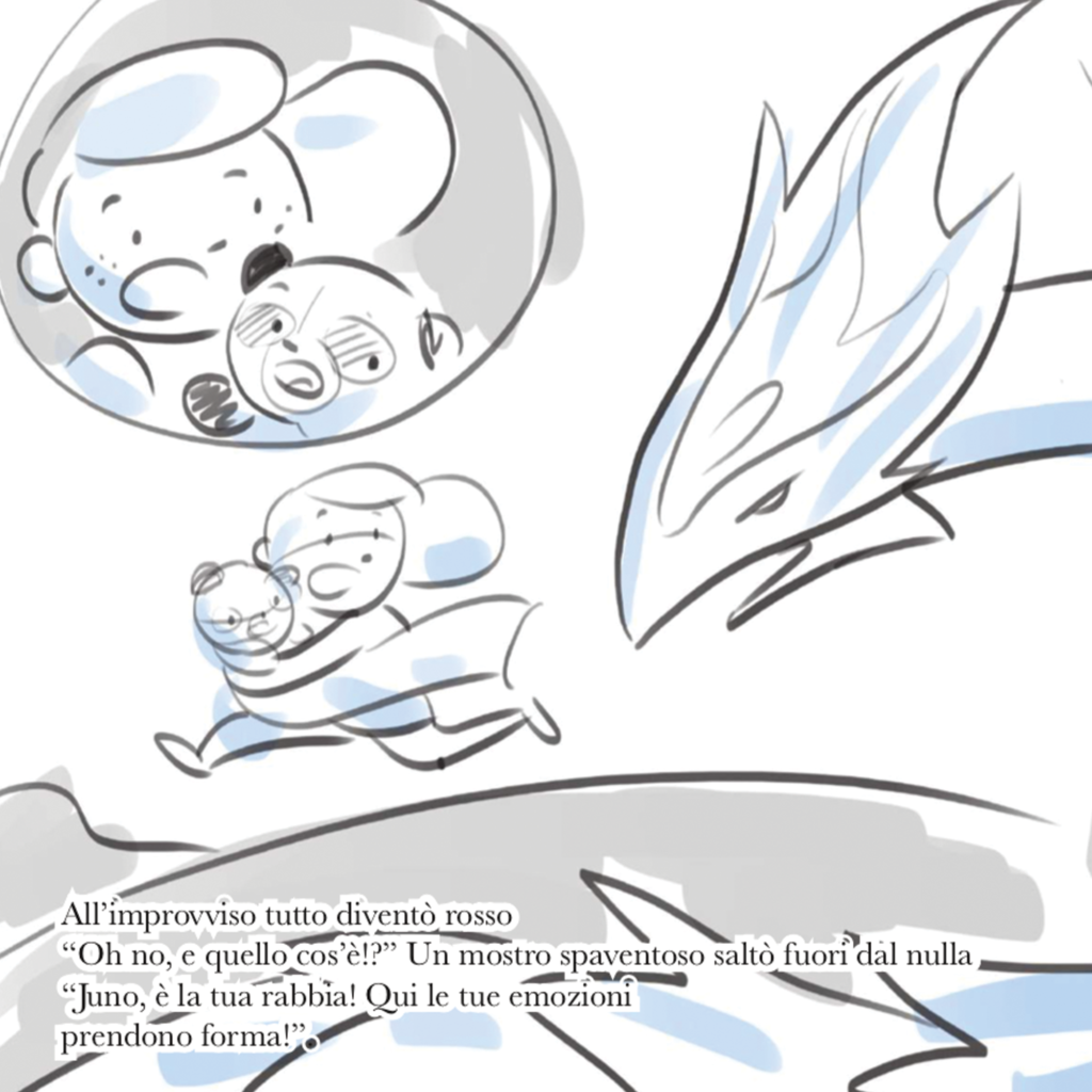 Sketched page from Juno's book.
