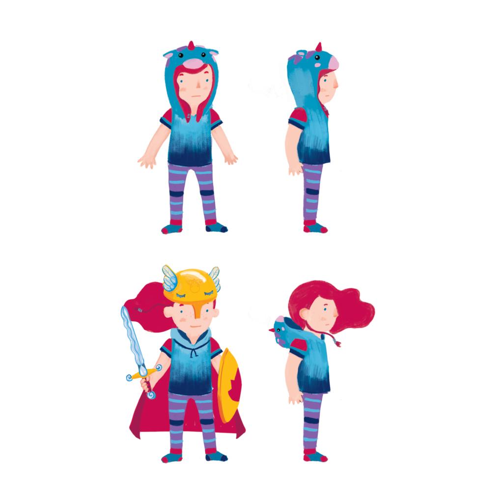 character design Juno turn around
