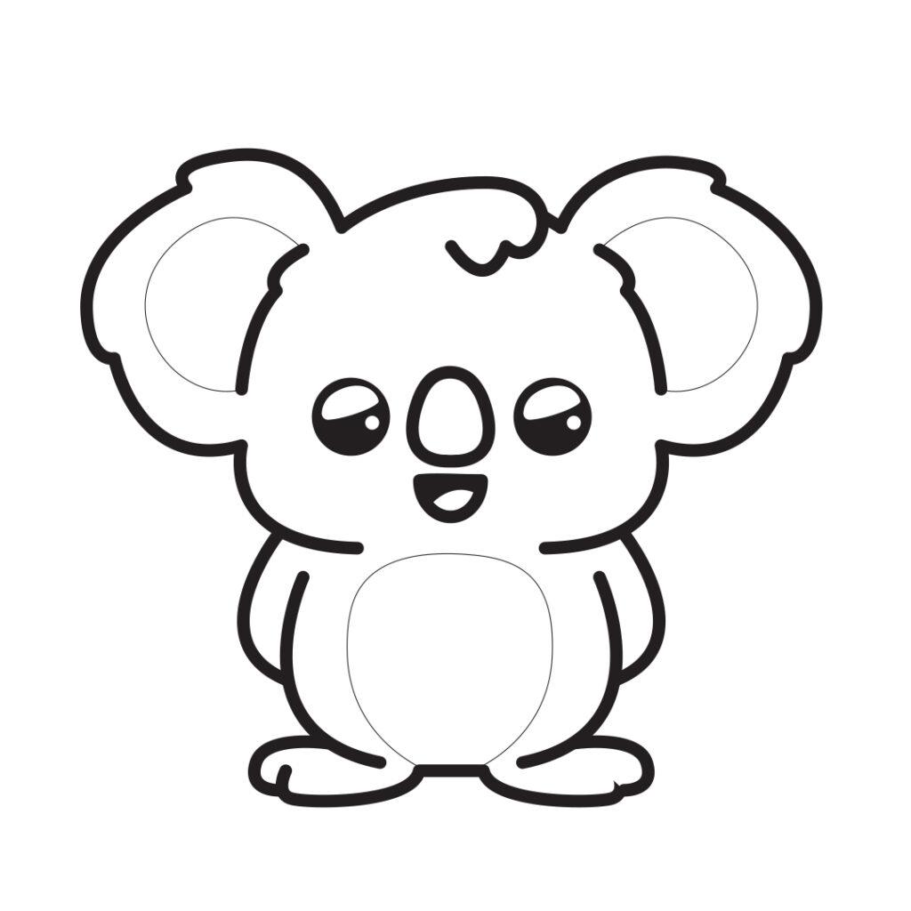 koala from Kawaii book of Colorkid