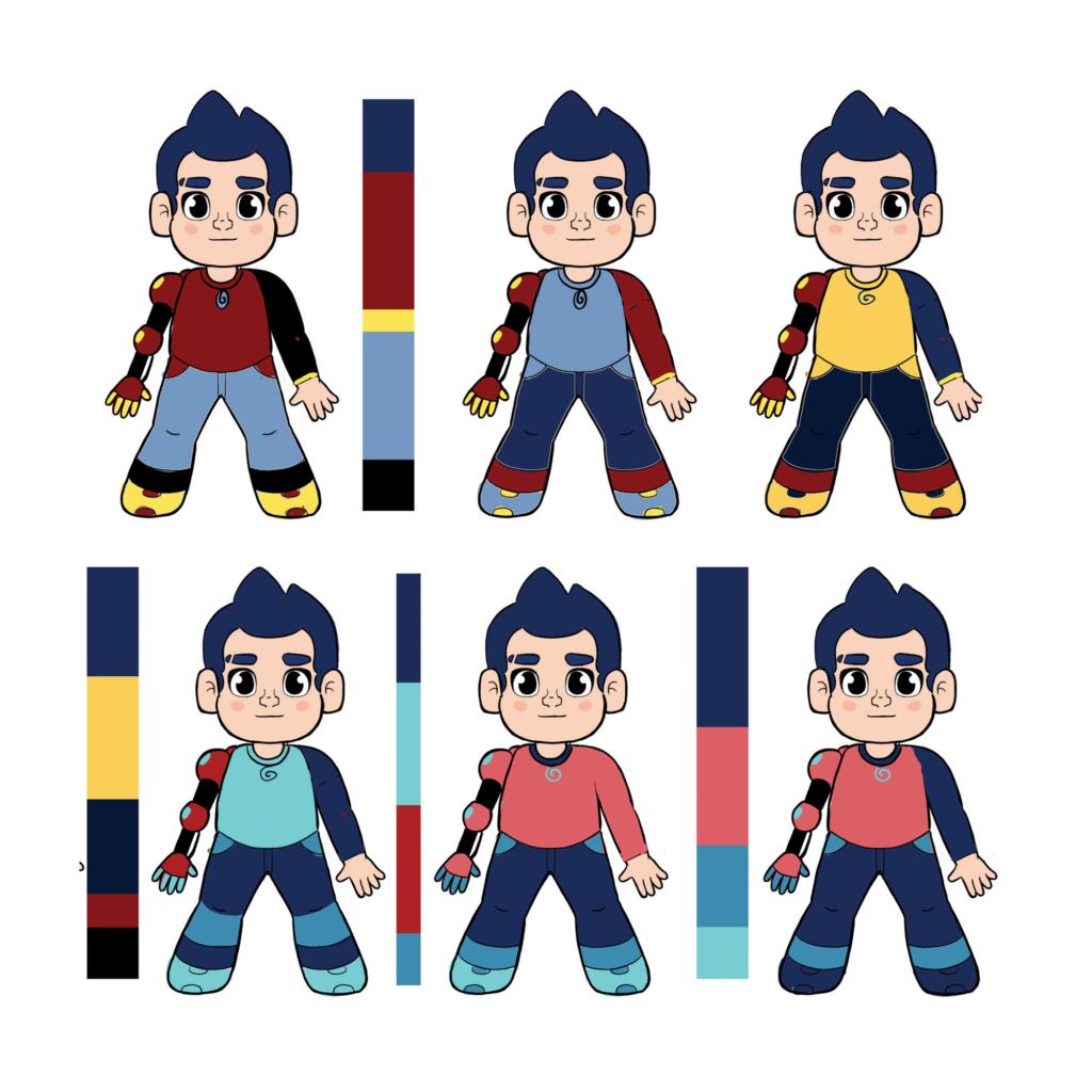 character design choosing colors