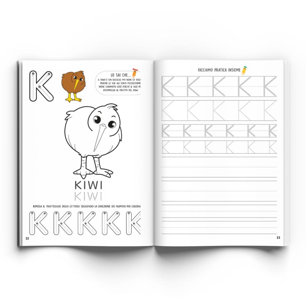 alphabet book Colorkid inside kiwi